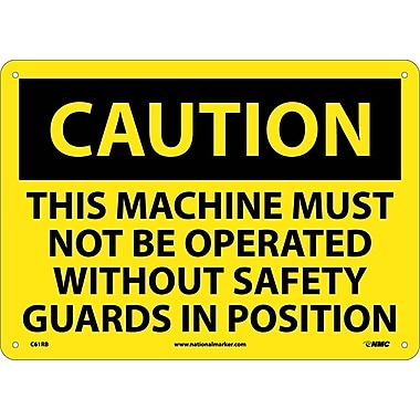 Caution, This Machine Must Not Be Operated With. . ., 10x14, Rigid Plastic
