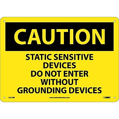 Caution, Static Sensitive Devices Do Not Enter Without Grounding Devices, 10