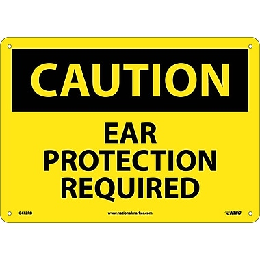 Caution, Ear Protection Required, 10X14, Rigid Plastic