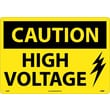 Caution, High Voltage, Graphic, 14X20, Rigid Plastic