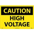 Caution, High Voltage, 14X20, Rigid Plastic