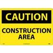 Caution, Construction Area, 14X20. Rigid Plastic