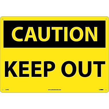 Caution Keep Out, 14X20, Rigid Plastic