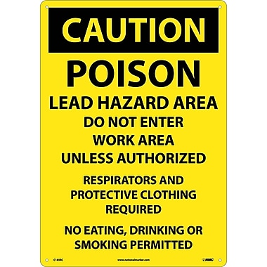 Caution, Poison Lead Hazard Area Do Not Enter Work Area..., 14