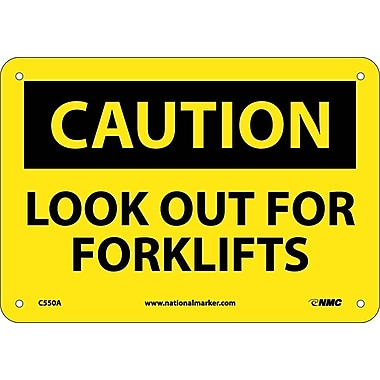 Caution, Look Out For Forklifts, 7X10, .040 Aluminum