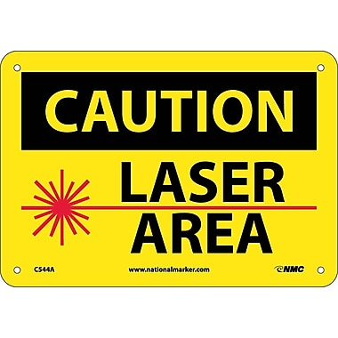 Caution, Laser Area, Graphic, 7X10, .040 Aluminum