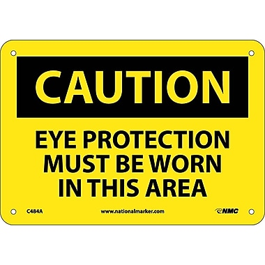 Caution, Eye Protection Must Be Worn In This Area, 7
