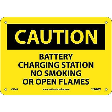 Caution, Battery Charging Station No Smoking Or Open Flames, 7