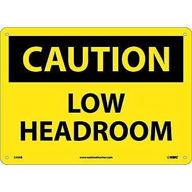 Caution, Low Headroom, 10X14, .040 Aluminum