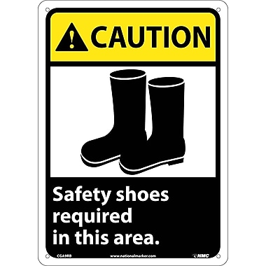 Caution, Safety Shoes Required In This Area with Graphic, 14