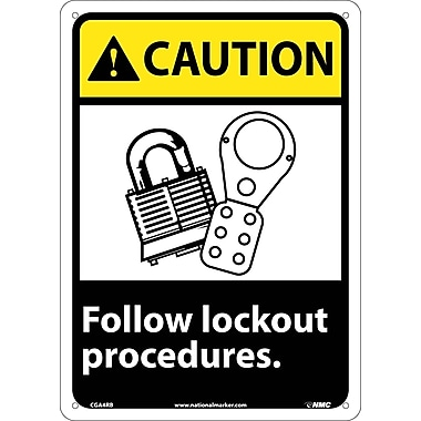 Caution, Follow Lock Out Procedures with Graphic, 14