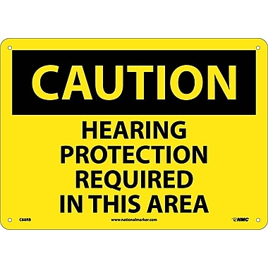 Caution, Hearing Protection Required In This Area, 10