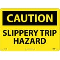 Caution, Slippery Trip Hazard, 10X14, Rigid Plastic