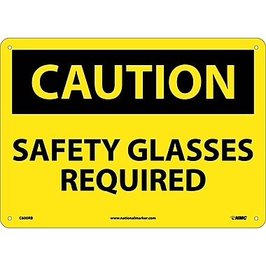 Caution, Safety Glasses Required, 10