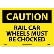 Caution, Rail Car Wheels Must Be Chocked, 10X14, Rigid Plastic