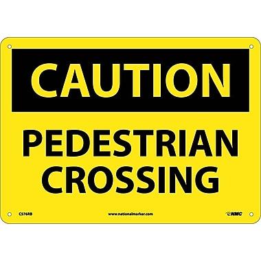 Caution, Pedestrian Crossing, 10X14, Rigid Plastic