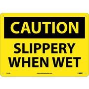 Caution, Slippery When Wet, 10X14, Rigid Plastic