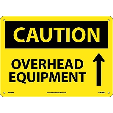 Caution, Overhead Equipment, Up Arrow, Graphic, 10