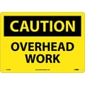 Caution, Overhead Work, 10X14, Rigid Plastic