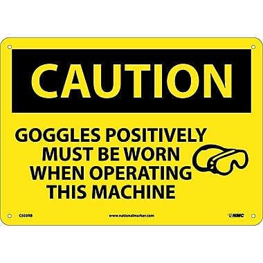 Caution, Goggles Positively Must Be Worn When Operating This Machine, Graphic, 10