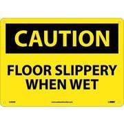 Caution, Floor Slippery When Wet, 10X14, Rigid Plastic