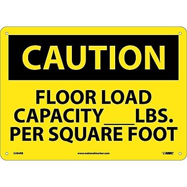 Caution, Floor Load Capacity__Lbs. Per Square Foot, 10X14, Rigid Plastic