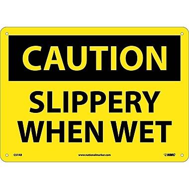 Caution, Slippery When Wet, 10X14, .040 Aluminum