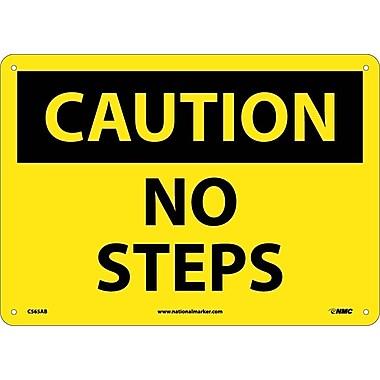 Caution, No Steps, 10X14, .040 Aluminum