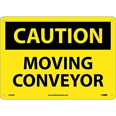 Caution, Moving Conveyor, 10X14, .040 Aluminum