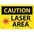 Caution, Laser Area, Graphic, 10X14, .040 Aluminum