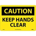 Caution, Keep Hands Clear, 10X14, .040 Aluminum