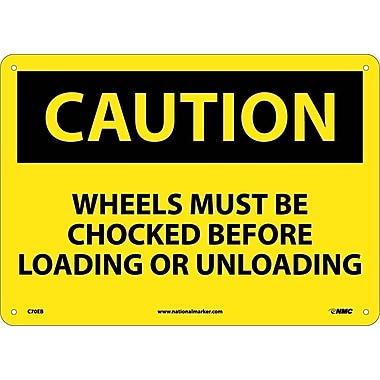 Caution, Wheels Must Be Chocked Before Loading. . ., 10X14, Fiberglass