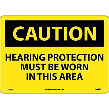 Caution, Hearing Protection Must Be Worn In This Area, 10