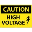 Caution, High Voltage, Graphic, 20X28, Rigid Plastic