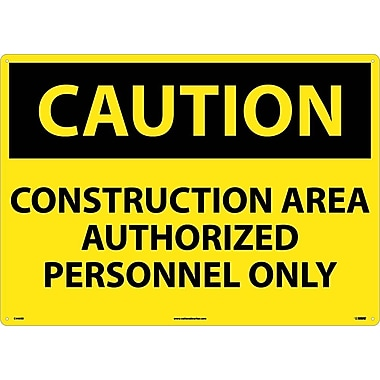 Caution, Construction Area Authorized Personnel Only, 20