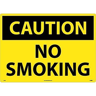 Caution, No Smoking, 20X28, Rigid Plastic