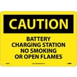 Caution, Battery Charging Station No Smoking. . ., 10X14, Fiberglass