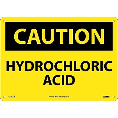 Caution, Hydrochloric Acid, 10X14, .040 Aluminum