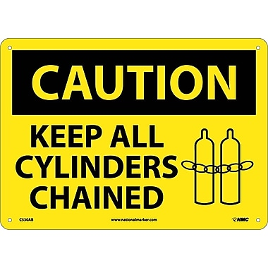 Caution, Keep All Cylinders Chained, Graphic, 10X14, .040 Aluminum
