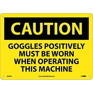 Caution, Goggles Positively Must Be Worn When Operating This Machine, 10