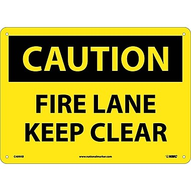Caution, Fire Lane Keep Clear, 10