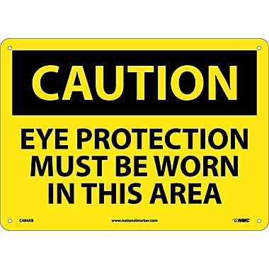 Caution, Eye Protection Must Be Worn In This Area, 10
