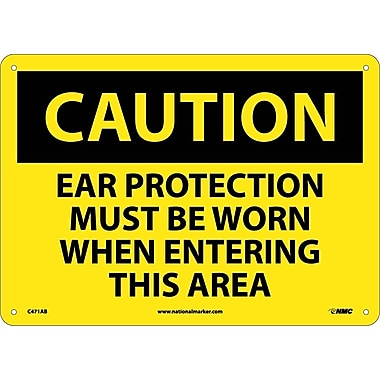 Caution, Ear Protection Must Be Worn When Entering This Area, 10