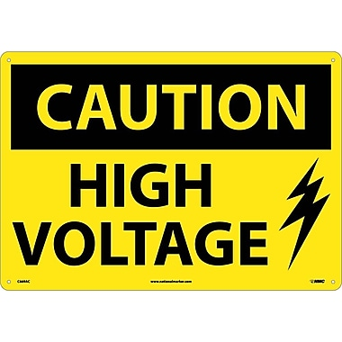 Caution, High Voltage, Graphic, 14X20, .040 Aluminum