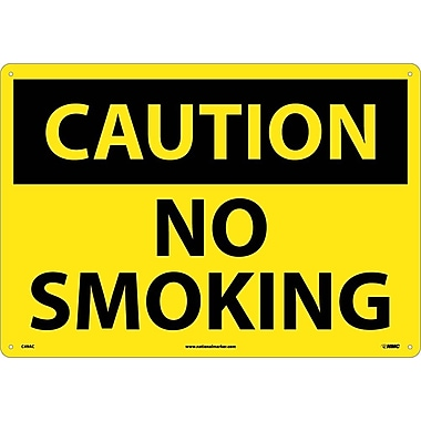 Caution No Smoking, 14X20, .040 Aluminum