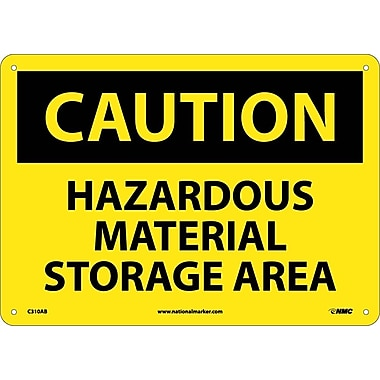 Caution, Hazardous Material Storage Area, 10X14, .040 Aluminum