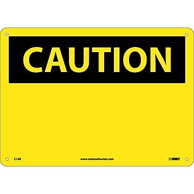 Caution, (Header Only), 10X14, .040 Aluminum
