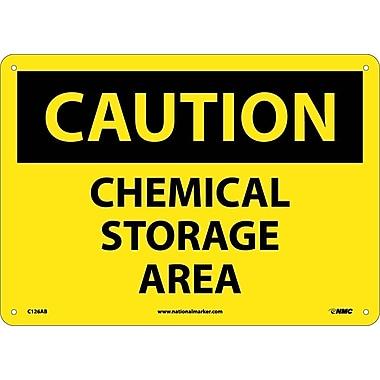 Caution, Chemical Storage Area, 10X14, .040 Aluminum