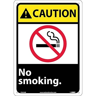 Caution, No Smoking (W/Graphic), 14X10, .040 Aluminum