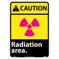 Caution, Radiation Area, 14X10, .040 Aluminum